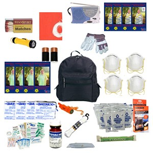 Deluxe Emergency Backpack Kits Home Work Auto: 4 Person