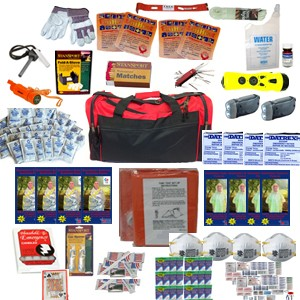 4 Person Perfect Survival Kit Deluxe for Earthquake, Evacuation, Emergency Disaster Preparedness 72