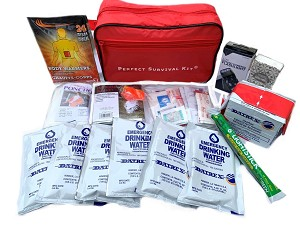 Earthquake Kit, The Small Perfect Survival Kit, Emergency Kit, Commuter Kit for Auto, Home or School